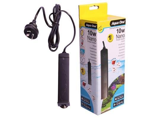 AQUA ONE PLASTIC PRESET 10W HEATERFor a heater you can trust, use the Aqua One Plastic Preset 10W...