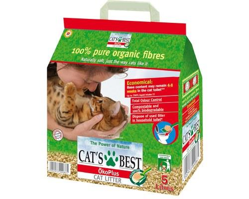 CATS BEST OKO PLUS LITTER 2.1KGClumping organic cat litter from 100% naturally organic fibres.