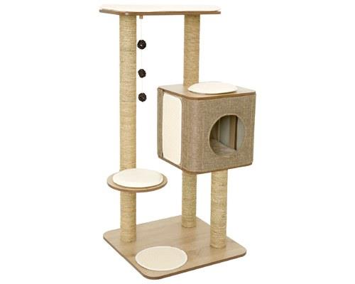 LULU'S WORLD CUBOX HIGH BASE CAT SCRATCHER OAKIn Lulu's World, every cat has their dream cat scratcher...