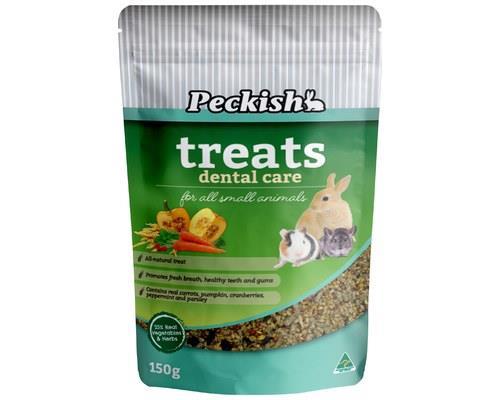 PECKISH SMALL ANIMAL HEALTH TREAT 150GM - DENTAL CAREYou've gotta keep those chompers healthy!Made to...