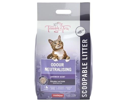 Trouble and Trix Lavender Litter, Clumping Cat Litter, 15LTrouble and Trix Lavender Litter is a 100%...