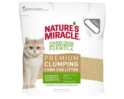 NATURES MIRACLE PREMIUM CORN COB CLUMPING CAT LITTER 8KGNature's Miracle makes it easier for you to...