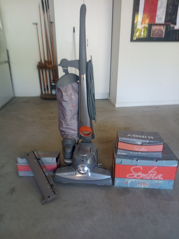 Kirby vacuum cleaner with all attachments. Only been used a couple of times. In excellent condition.