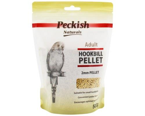 PECKISH ADULT HOOKBILL PELLET 2MM 500GMIs your bird feeling peckish?Give them something they'll love!