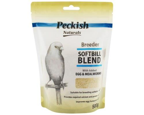 PECKISH BREEDER SOFTBILL BLEND - EGG & MEALWORM 500GMSmall softbills such as finches and canaries...