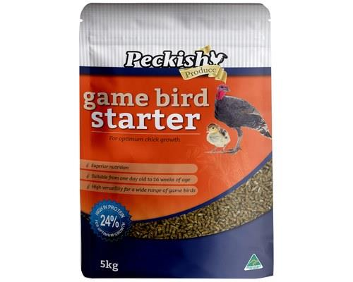 PECKISH GAME BIRD STARTER 5KGThis bird starter is a real game changer!The Peckish Game Bird Starter is...