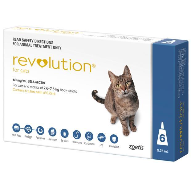Revolution Cat Blue 2 X 6 Pack Pet: Cat Category: Cat Supplies  Size: 0.4kg  Rich Description:...
