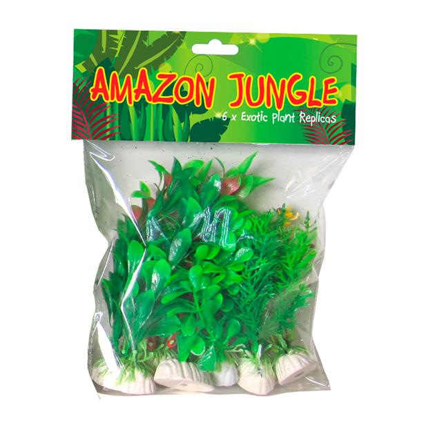 Amazon Jungle Plants Mixed Plastic Plants 20cm Pet: Fish Category: Fish Supplies  Size: 0.2kg Colour:...