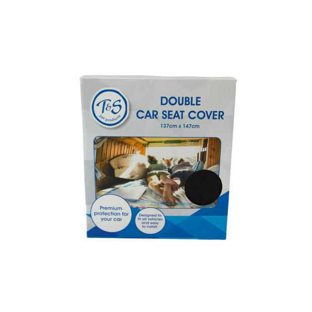 Ts Double Car Seat Cover Each Pet: Dog Category: Dog Supplies  Size: 1kg Colour: Black  Rich...