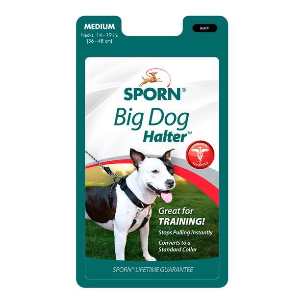 Sporn Big Dog Halter Medium Pet: Dog Category: Dog Supplies  Size: 0.4kg Colour: Black Material: Nylon...