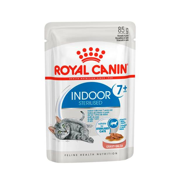 Royal Canin Indoor 7 Plus Adult Gravy Wet Cat Food Pouches 12 X 85g Pet: Cat Category: Cat Supplies ...