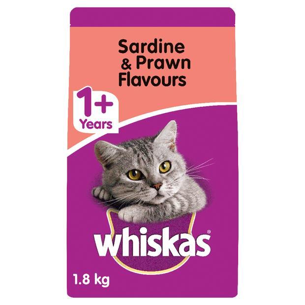 Whiskas 1 Plus Sardine And Prawn Dry Cat Food 1.8kg Pet: Cat Category: Cat Supplies  Size: 1.5kg  Rich...