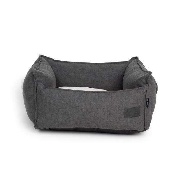 La Doggie Vita Dog Bed Linen High Side Stone Black X Large Pet: Dog Category: Dog Supplies  Size: 4.7kg...