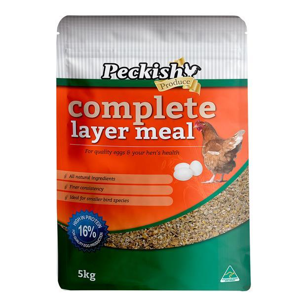 Peckish Complete Layer Meal 5kg Pet: Bird Category: Bird Supplies  Size: 5.2kg  Rich Description: Made...