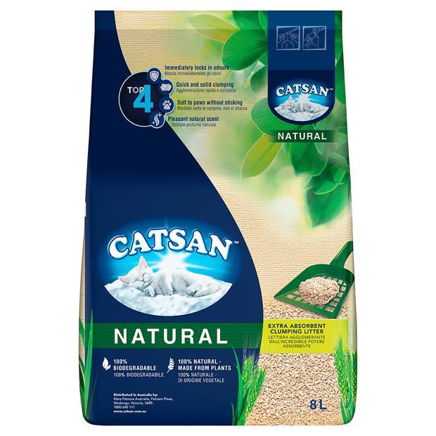 Catsan Natural 2x8L Pet: Cat Category: Cat Supplies  Size: 8kg Material: Wheat  Rich Description:...
