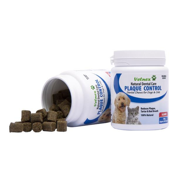 Vetnex Natural Dental Care Plaque Control Soft Chews Salmon 100g (100 Chews) Pet: Dog Category: Dog...
