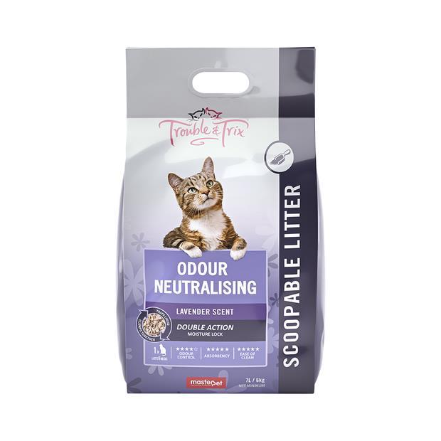 Trouble And Trix Natural Litter Lavender 7L Pet: Cat Category: Cat Supplies  Size: 6kg  Rich...