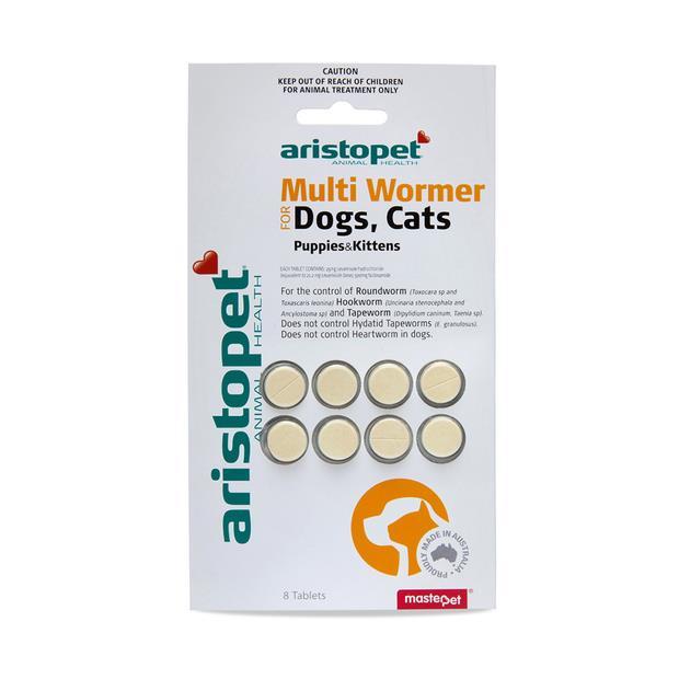 Aristopet Multiwormer Tablets Dog Cat 8 Pack Pet: Dog Category: Dog Supplies  Size: 0kg  Rich...