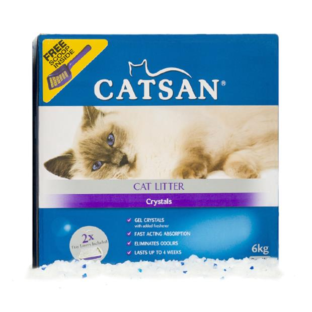 Catsan Crystals 6kg Pet: Cat Category: Cat Supplies  Size: 6kg Material: Silica  Rich Description:...