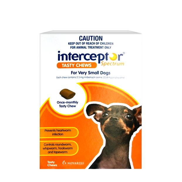 Interceptor Spectrum Chews Extra Small Brown 3 Pack Pet: Dog Category: Dog Supplies  Size: 0.1kg  Rich...