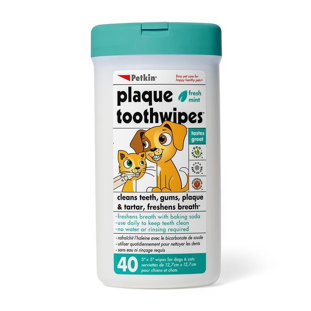 Petkin Toothwipes Each Pet: Cat Category: Cat Supplies  Size: 0.2kg  Rich Description: Petkin...