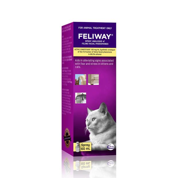 Feliway Spray 60ml Pet: Cat Category: Cat Supplies  Size: 0.1kg  Rich Description: Feliway spray can be...