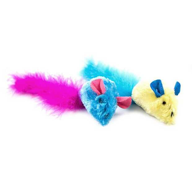 Trouble And Trix Bliss Tweet Mice 2 Pack Pet: Cat Category: Cat Supplies  Size: 0kg Colour: Multi  Rich...