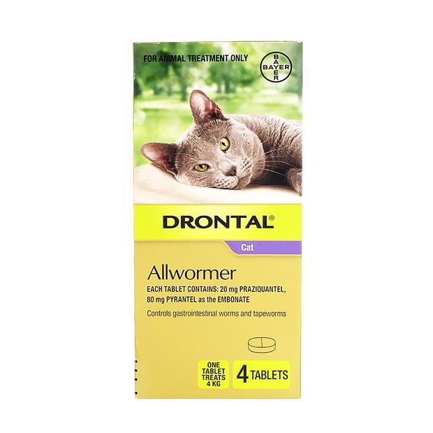 Drontal Cat Wormer Refill 4 Pack Pet: Cat Category: Cat Supplies  Size: 0kg  Rich Description: Drontal...