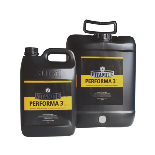 Mitavite Vitamite Performa 3 Oil 5L Pet: Horse Size: 5.2kg  Rich Description: Suitable for all horses...