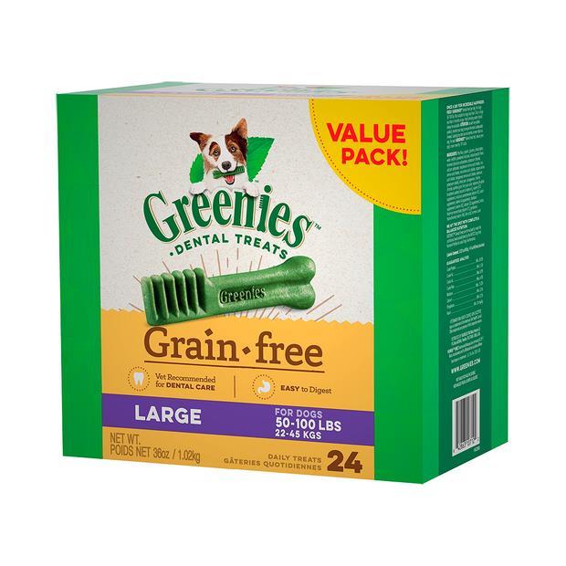 Greenies Grain Free Large Dog Dental Treats 24 Pieces 1kg Pet: Dog Category: Dog Supplies  Size: 1.3kg...