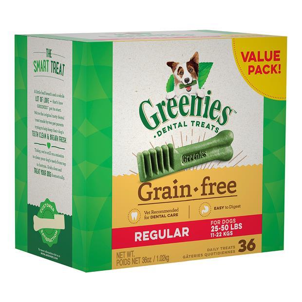 Greenies Grain Free Regular Dog Dental Treats 36 Pieces 1kg Pet: Dog Category: Dog Supplies  Size:...