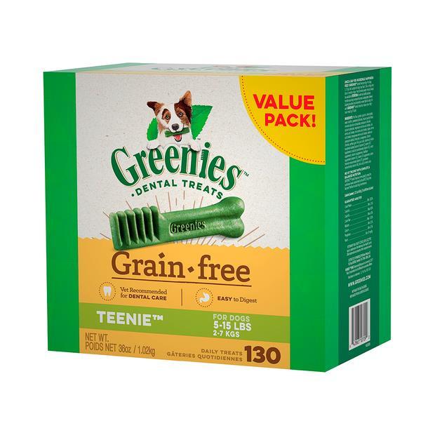 Greenies Grain Free Teenie Dog Dental Treats 1kg Pet: Dog Category: Dog Supplies  Size: 1.3kg  Rich...