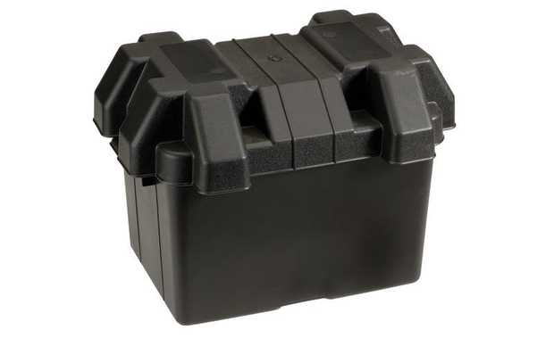 Standard Battery BoxIdeal for securing batteries in areas exposed to the elements or where limited room...