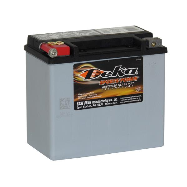 ETX16 Deka Power Sports AGM BatteryNote: YB16C-BSpecification:CCA325Ah C2019RC @25min7.7Weight Kg7.7L...