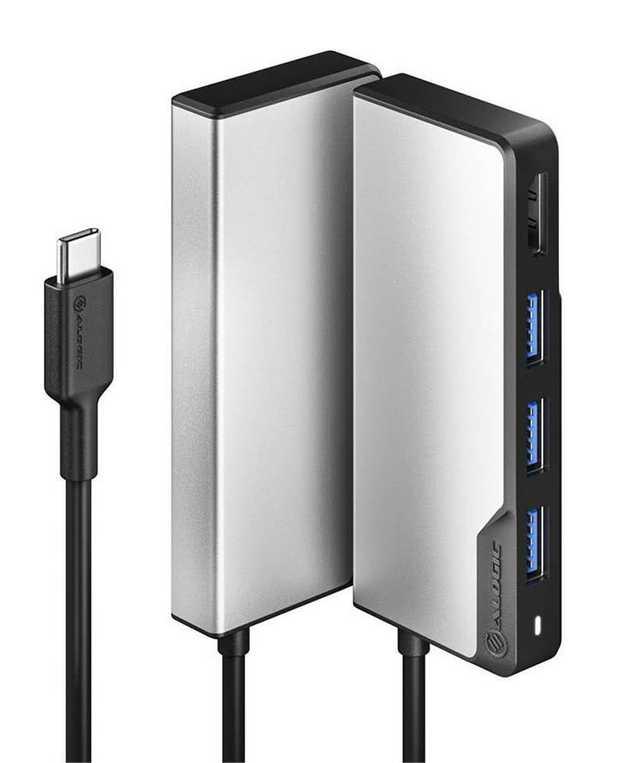 5-in-1 Hub 4K Video & Super-fast Data transfer EMI Shielding Compact & Portable Plug & Play Data Rate:...