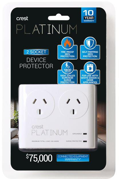 Fire Proof Self-Tripping MOV Superior surge protection 1,800 Joules Premium 6,000V Spike protection...