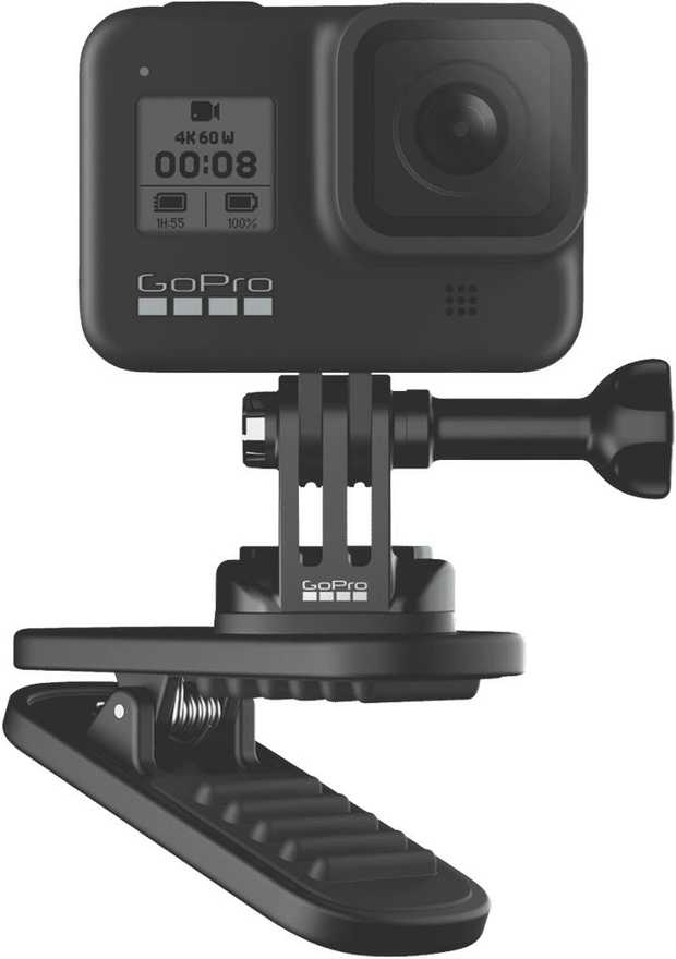 The Magnetic Swivel clip gives you the ability to clip your GoPro to your backpack strap or gear or use...