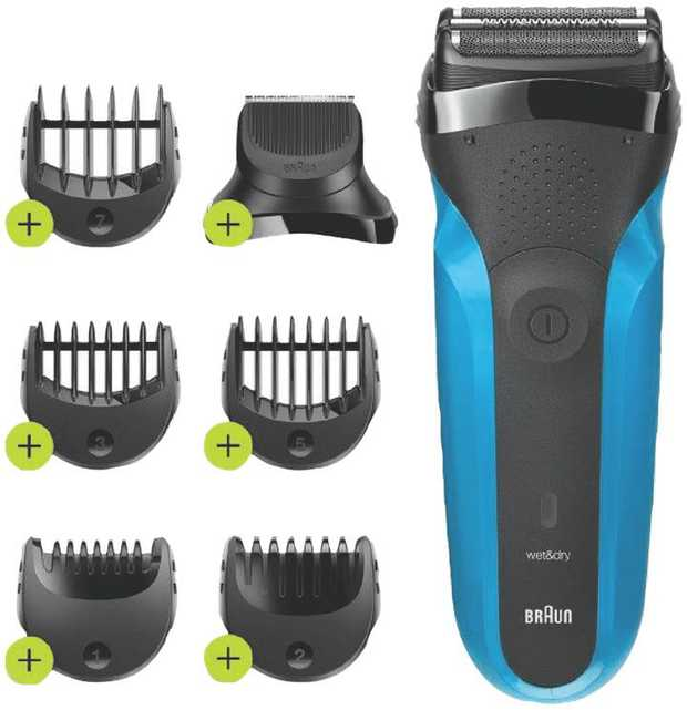 This Braun Wet & Dry electric razor and beard trimmer is designed to shave, trim and edge. With 3...