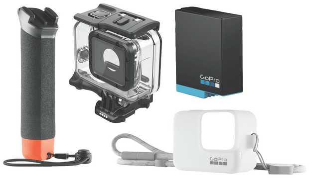 Includes: Hero Handler, Hero 7 Super Suit, Hero 7 Battery, Hero 7 Black Sleeve and lanyard in white OR...