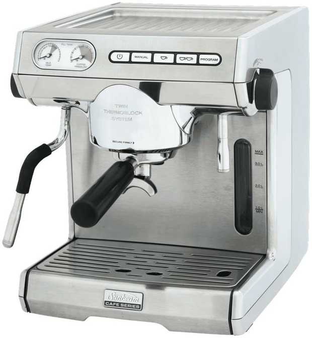 Transform your home into a cafe with help from the Sunbeam Cafe Series Espresso Coffee Machine EM7000.