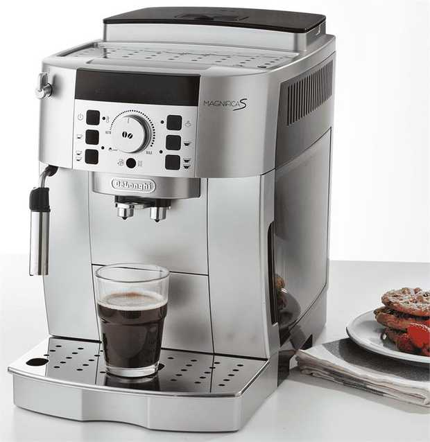 Prepare freshly-ground espresso coffee at the touch of a button with the DeLonghi Magnifica S Automatic...
