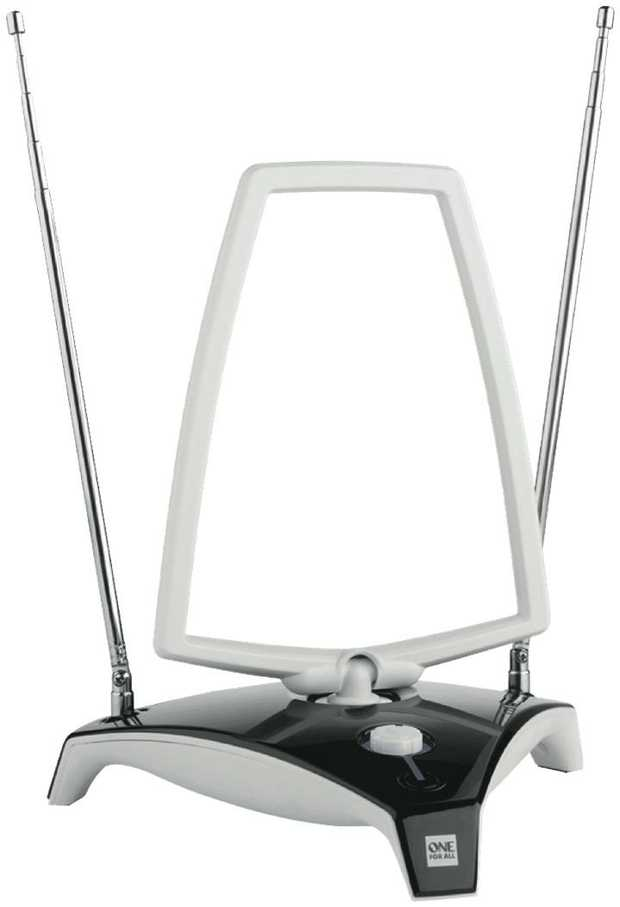 * Indoor amplified Digital TV/DAB Antenna* Also receives DAB Digital Radio Signals* 3 x Active Noise...