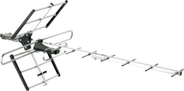 * Outdoor Non-amplified Yagi Antenna* Up to 50Km distance from TV transmitter* Simple 4-step assembly*...