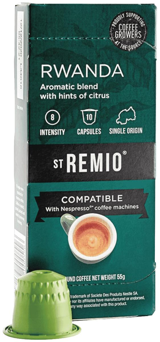 * Compatible with Nespresso machines** Rwandan Single origin blend* High Quality coffee, blended in...