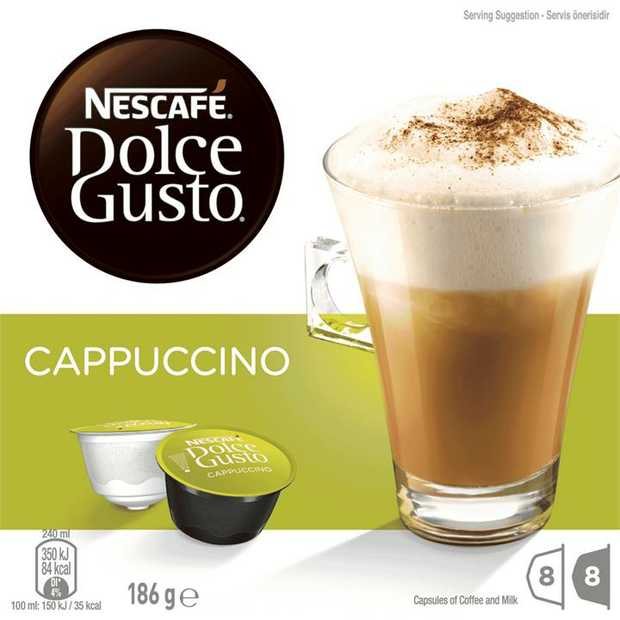 Discover NESCAF� Dolce Gusto Cappuccino, an Italian icon. The rich and bold aromas of an intense...