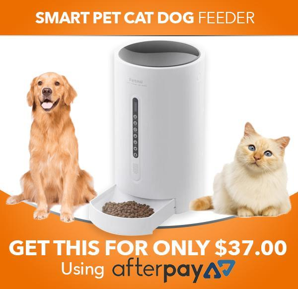 PETMII Smart Pet Feeder is a portable automatic machine that allows you to feed your pet according to...