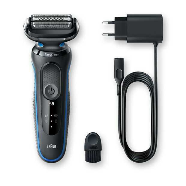 Electric razor with 3 Flexible Blades EasyClean system Li-Ion Battery Up to 3 weeks of shaving (50 min)...