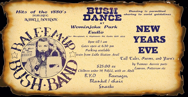 New Year's Eve BUSH DANCE...At Eudlo, small community, 35 mins north of Brisbane, 10mins drive from...