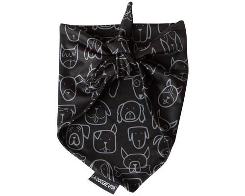 LA DOGGIE VITA BLACK BANDANA MEDIUM/LARGEWhether your dog is a fashion icon or wants to be in a band...