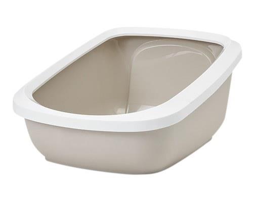 SAVIC ASEO JUMBO LITTER TRAY - WHITE MOCHAThe Aseo white and mocha litter tray is the solution to...
